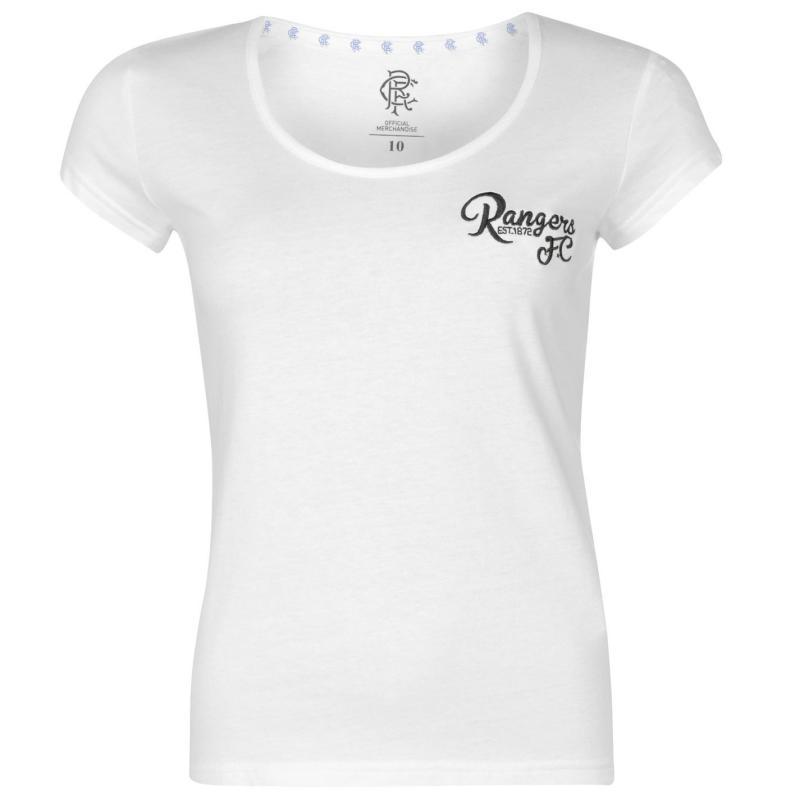 Team FC Script T Shirt Ladies White