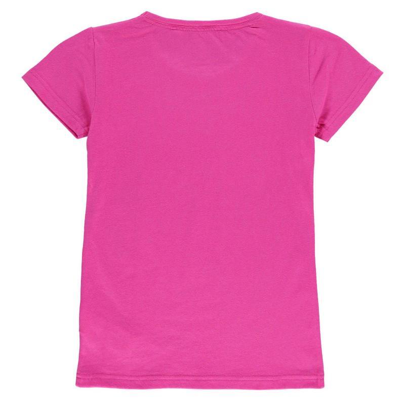 Team Rangers Crest Print T Shirt Junior Girls Pink
