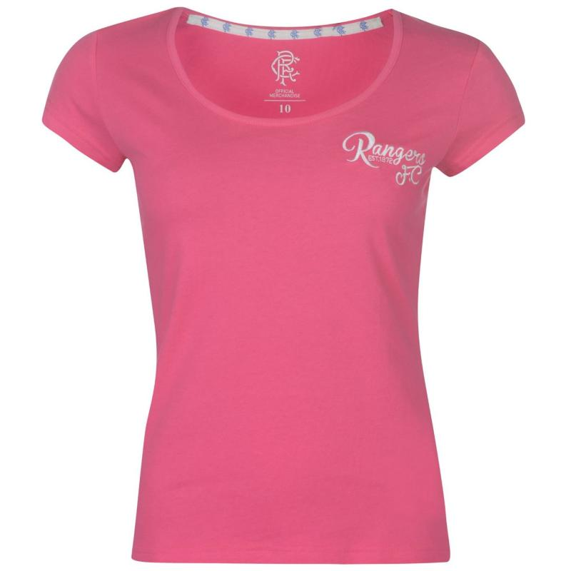 Team FC Script T Shirt Ladies Pink
