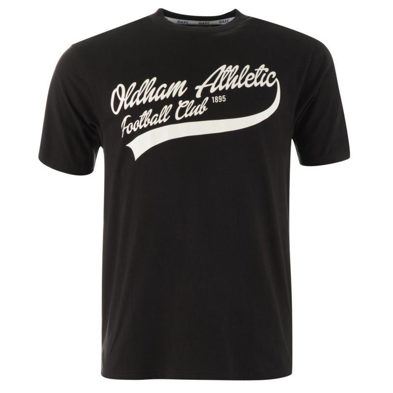 Tričko Team Oldham Athletic Classic T Shirt Mens Black