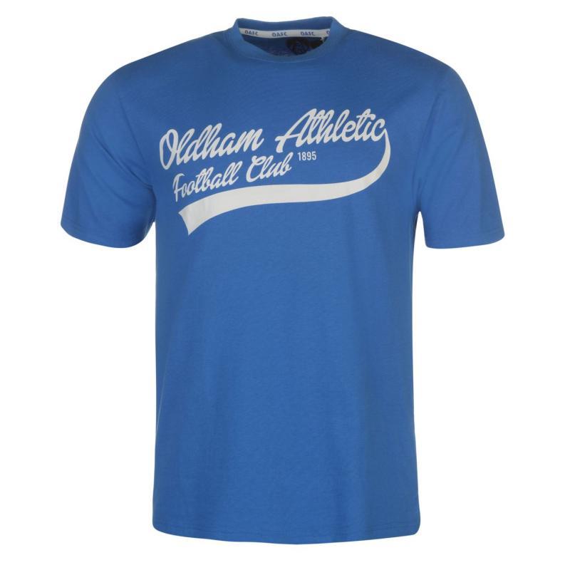 Tričko Team Oldham Athletic Classic T Shirt Mens Royal