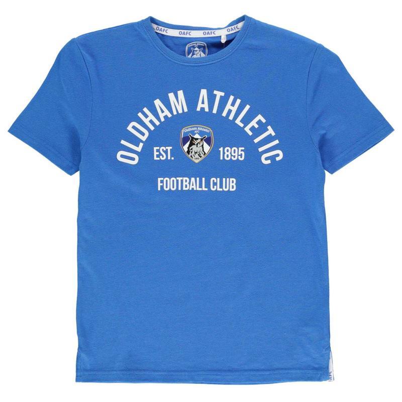 Team Oldham Athletic Est T Shirt Junior Boys Royal