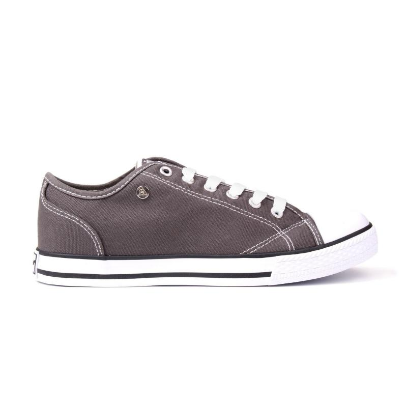 Obuv Dunlop Canvas Low Ladies Trainers Charcoal
