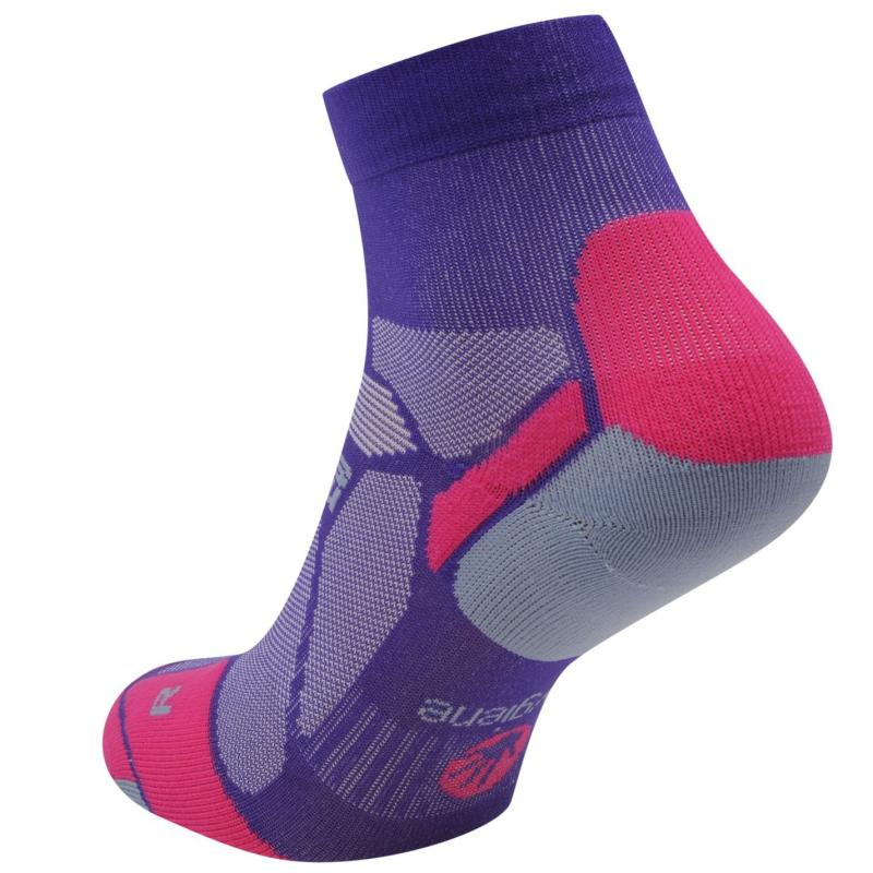 Ponožky Hilly Marathon Fresh Running Socks Ladies Purple/Pink/Gry