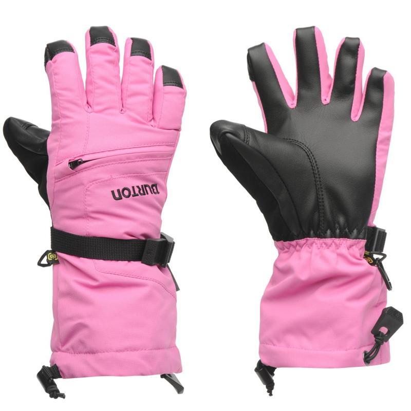 Burton Vent Gloves Junior Girls Pink