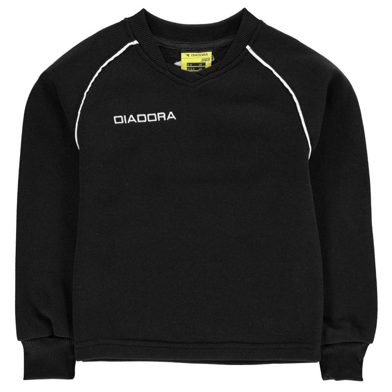 Mikina Diadora Madrid Sweater Junior Boys Black