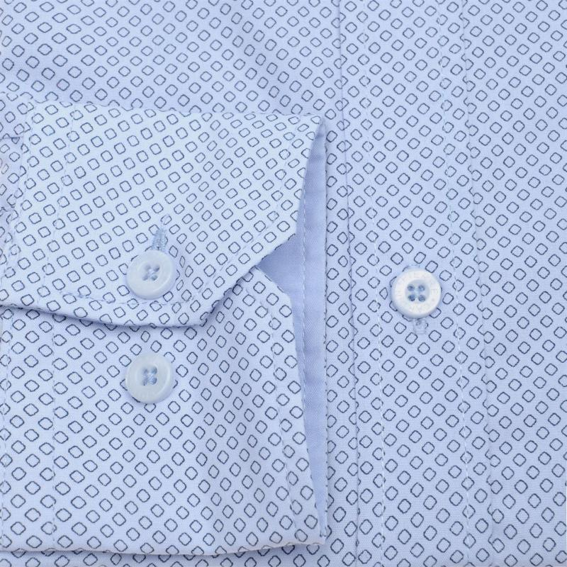 Pierre Cardin Long Sleeve Shirt Mens Mid Blue Chk