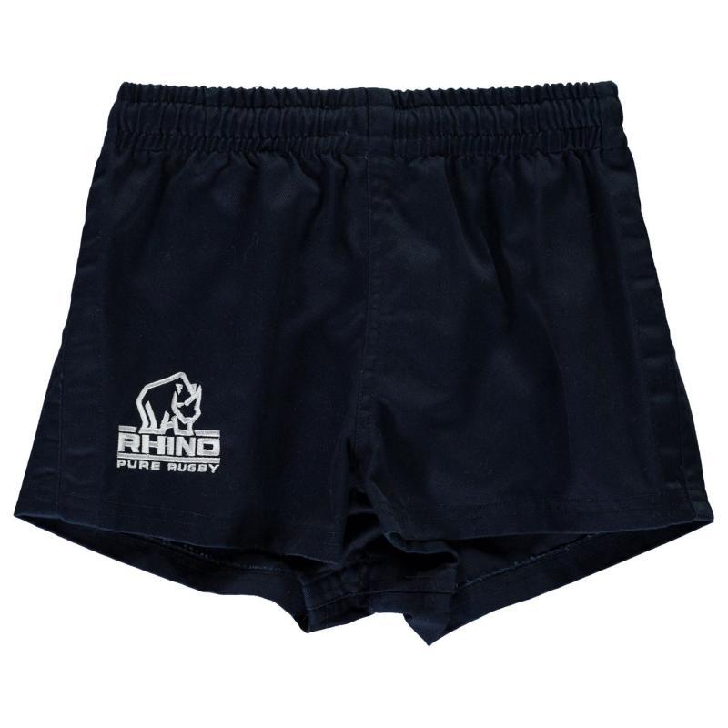 Kraťasy Rhino Rugby Twill Rugby Shorts Junior Boys Navy
