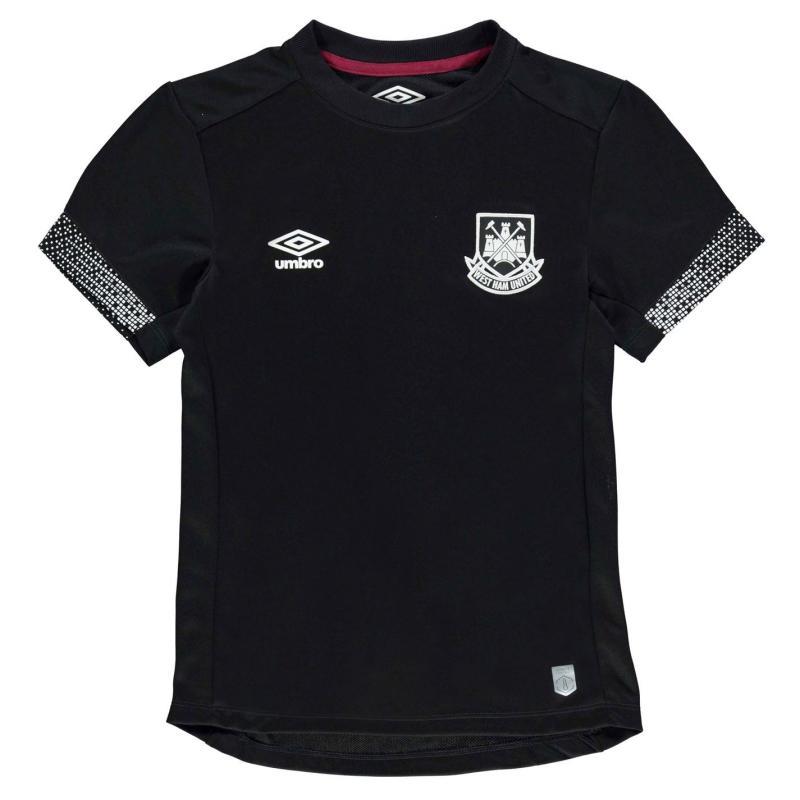 Tričko Umbro West Ham United Graphic Jersey Junior Black/White