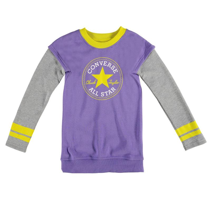 Šaty Converse Oversized Jumper Junior Girls Hollyhock