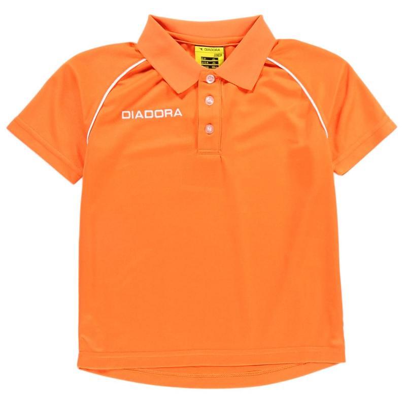 Tričko Diadora Madrid Polo Shirt Junior Boys Orange