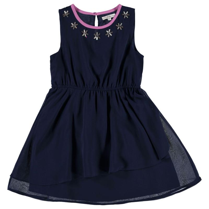 Šaty French Connection Embellished Neck Dress Nocturnal