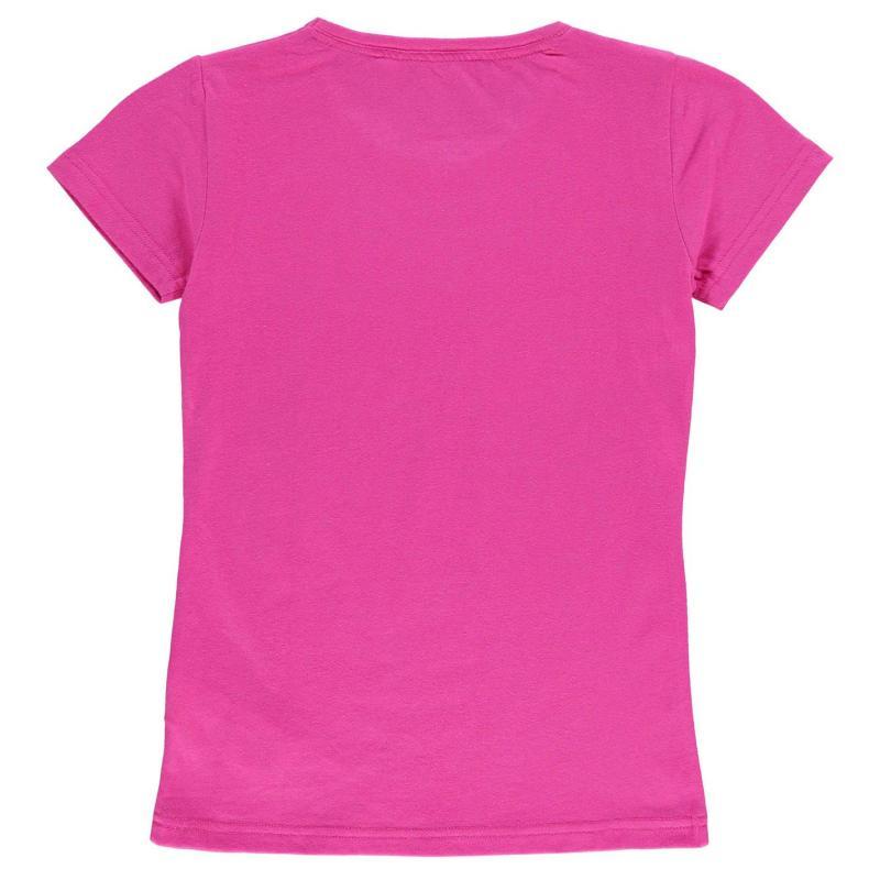 Team Portsmouth Crest Print T Shirt Junior Girls Pink