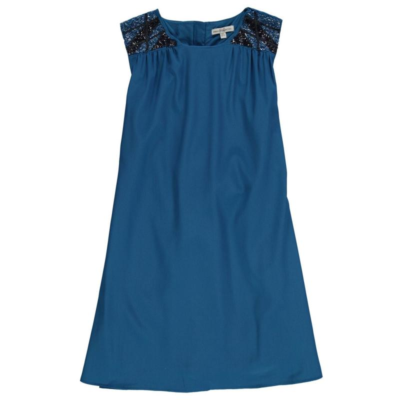 Šaty French Connection Shoulder Dress Blixen Blue
