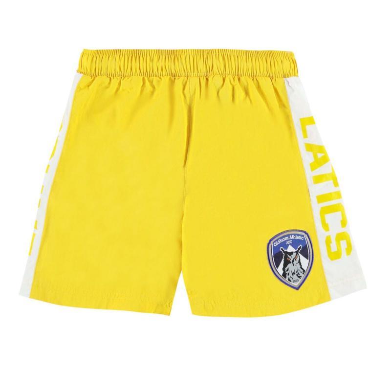 Team Oldham Athletic Swim Shorts Infant Boys Yellow