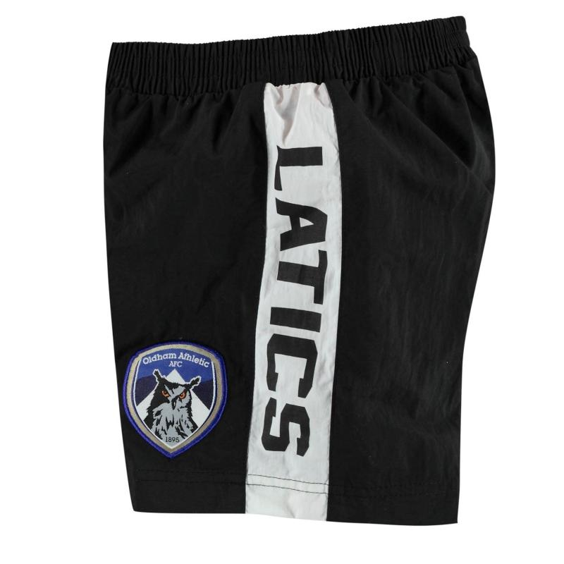 Plavky Team Oldham Athletic Swim Shorts Infant Boys Black