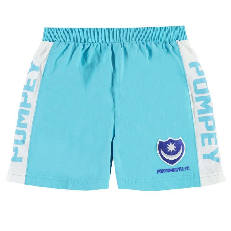 Plavky Team Portsmouth Swim Shorts Infant Boys Sky
