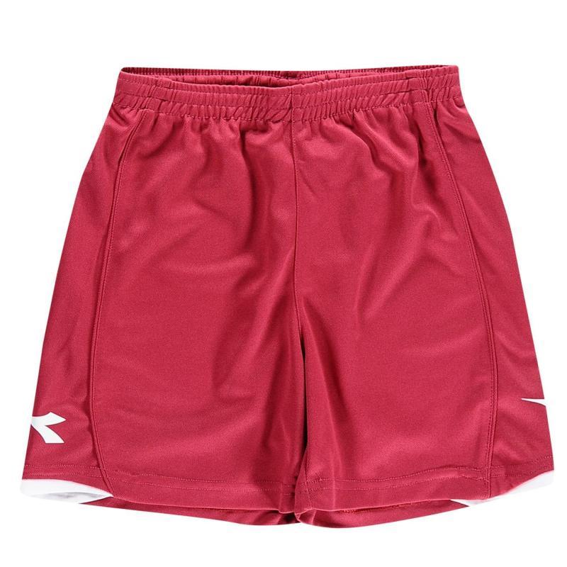 Kraťasy Diadora Kingston Shorts Junior Boys Red/White