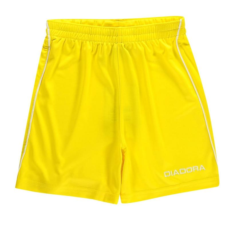 Kraťasy Diadora Madrid Shorts Junior Boys Yellow/White