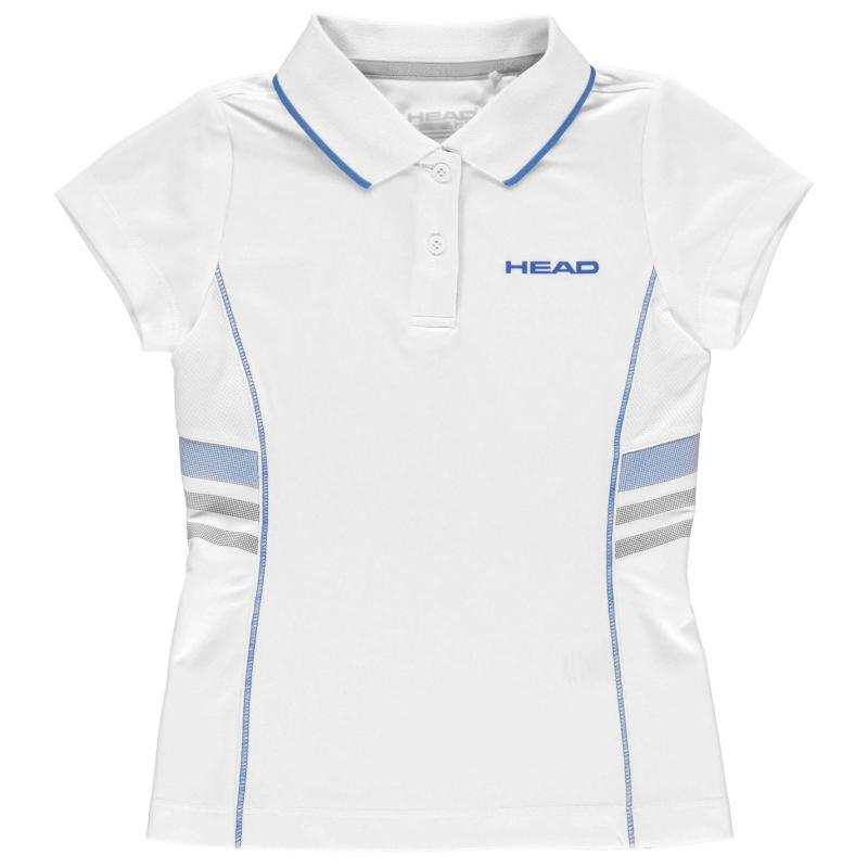 Tričko HEAD Club G Polo Shirt Junior Blue
