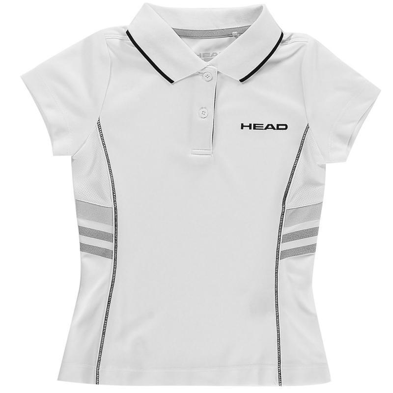 HEAD Club G Polo Shirt Junior White/Black