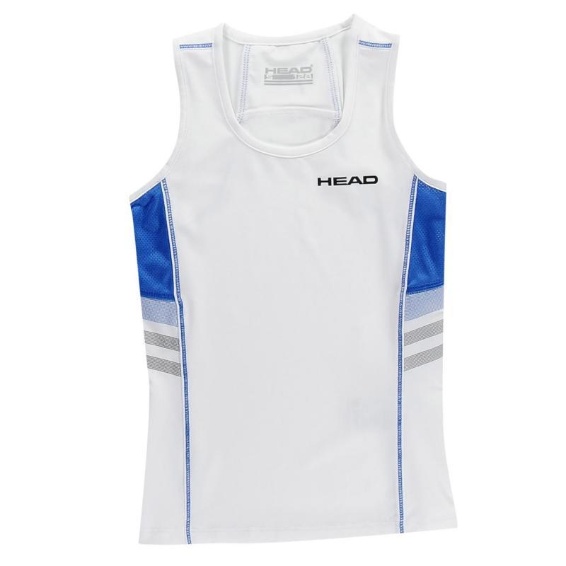 HEAD Club Girls Tank White/Blue