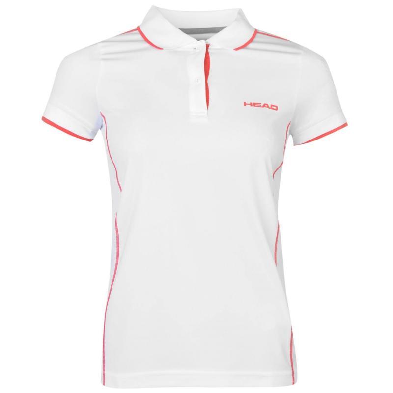 Polokošile HEAD Club Italia Tennis Polo Ladies White/Red