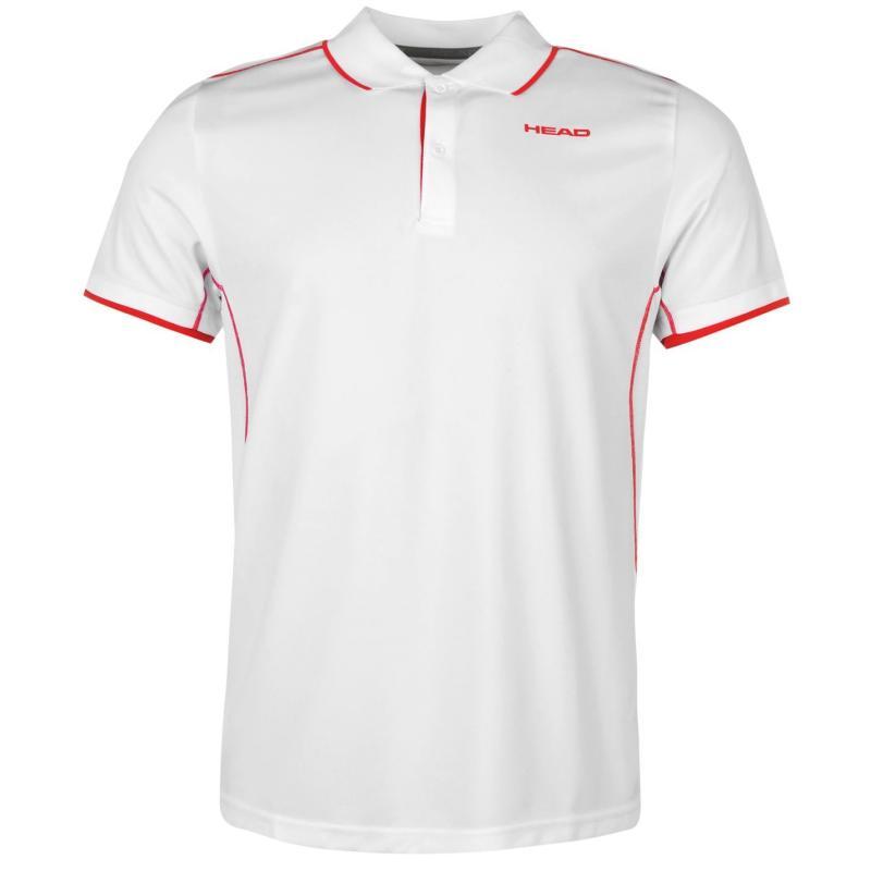 HEAD Club Polo Shirt Mens White/Red