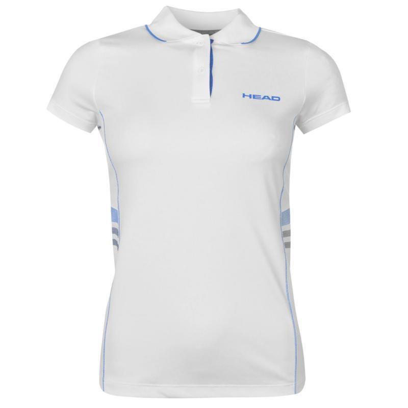 Polokošile HEAD Club W Polo T Shirt Ladies White/Blue