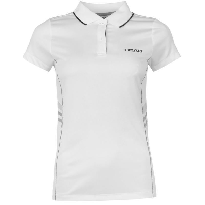 Polokošile HEAD Club W Polo T Shirt Ladies White/Black