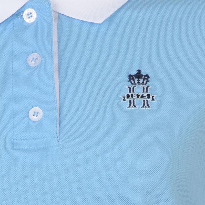 Polokošile Hurlingham Polo 1875 Essential Contrast Polo Ladies Sky/Wht