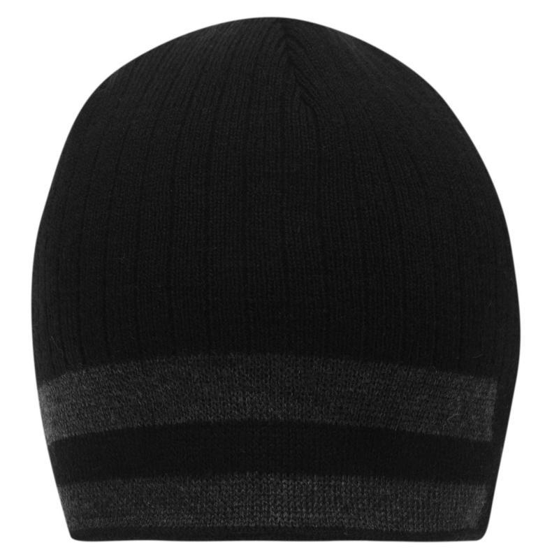 Lonsdale 2 Stripe Hat Mens Black