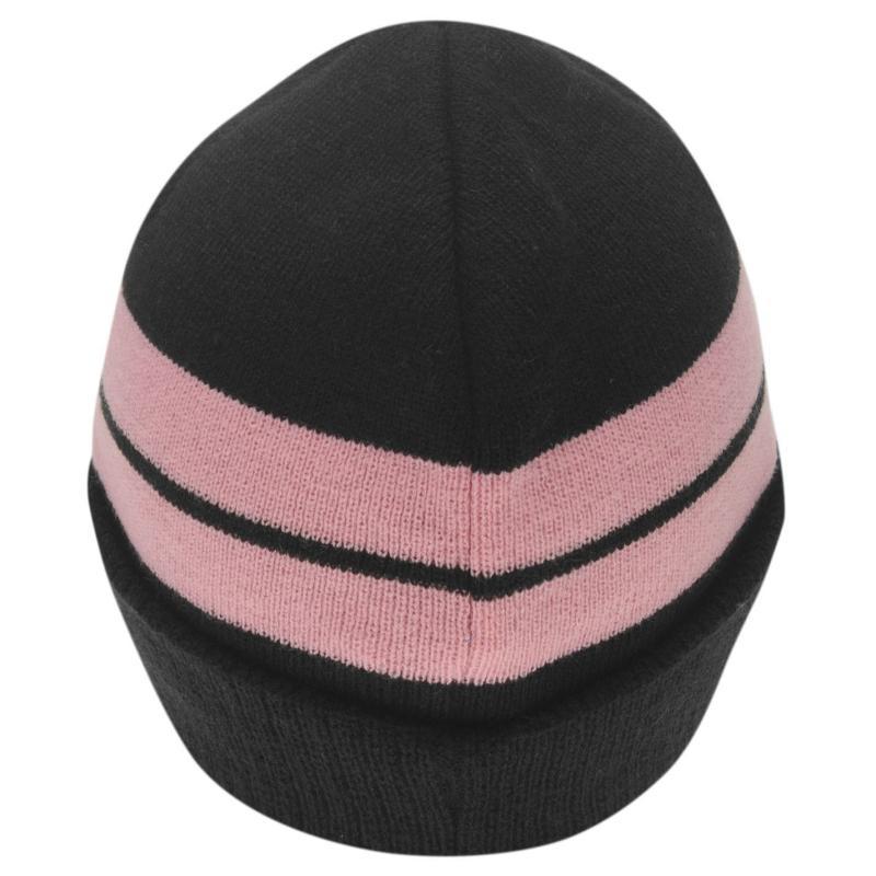 Lonsdale Turn Up Hat Black/Pink