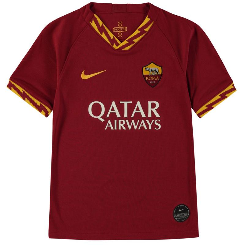 Nike AS Roma Home Shirt 2019 2020 Junior Red/Gold