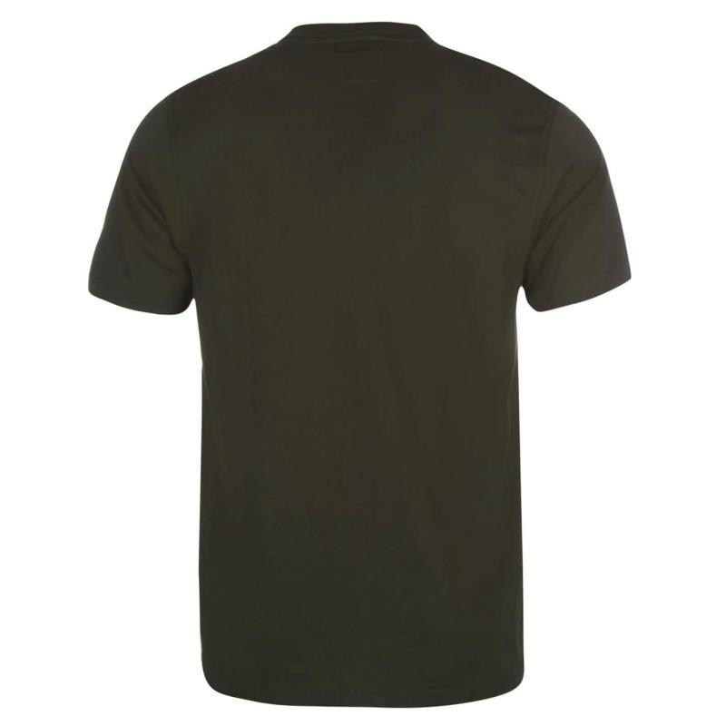 Tričko Slazenger Plain T Shirt Mens Khaki