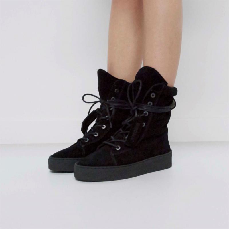 Bronx Silla Boots Black Suede