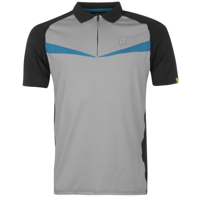 Prince Half Zip Dart Panel Shirt Mens Aqua