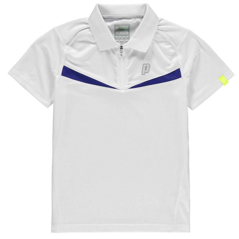 Tričko Prince Half Zip Tennis Shirt Juniors White