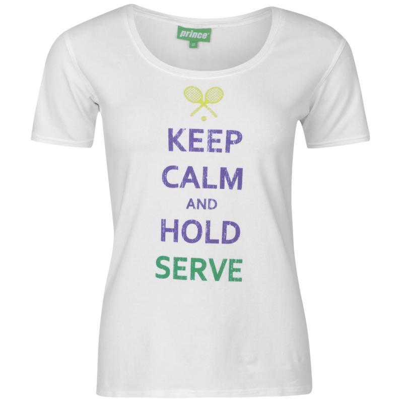 Prince Keep Calm T Shirt Ladies White