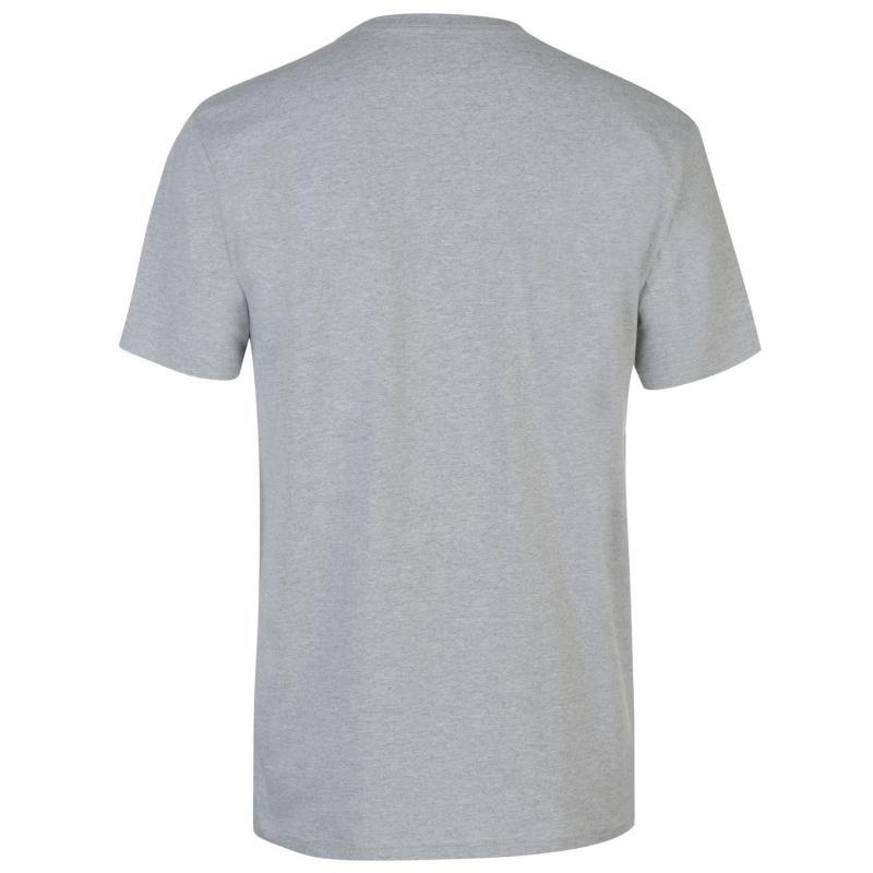 Tričko DC Halftone T Shirt Mens Heather Grey