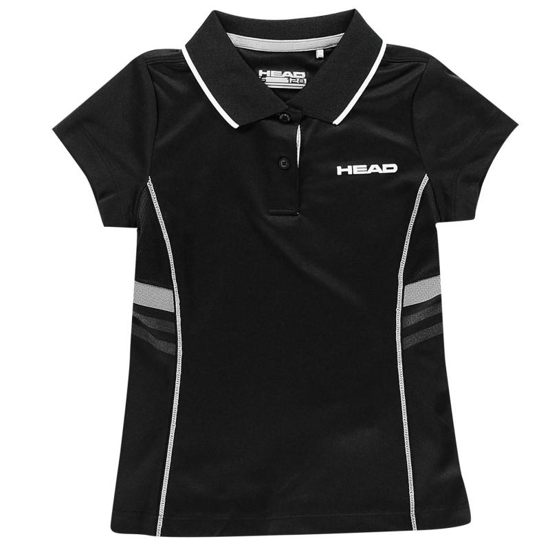 Tričko HEAD Club G Polo Shirt Junior White/Blue