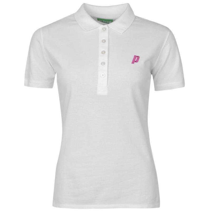 Prince Short Sleeve Polo Shirt Ladies White