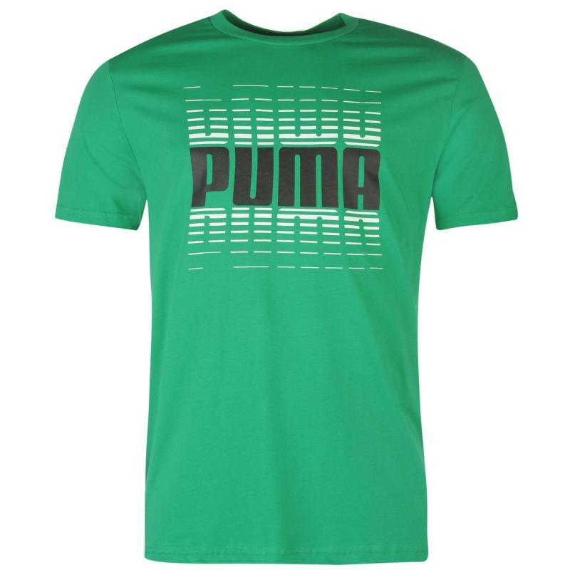 Tričko Puma Wording QT T Shirt Mens Green