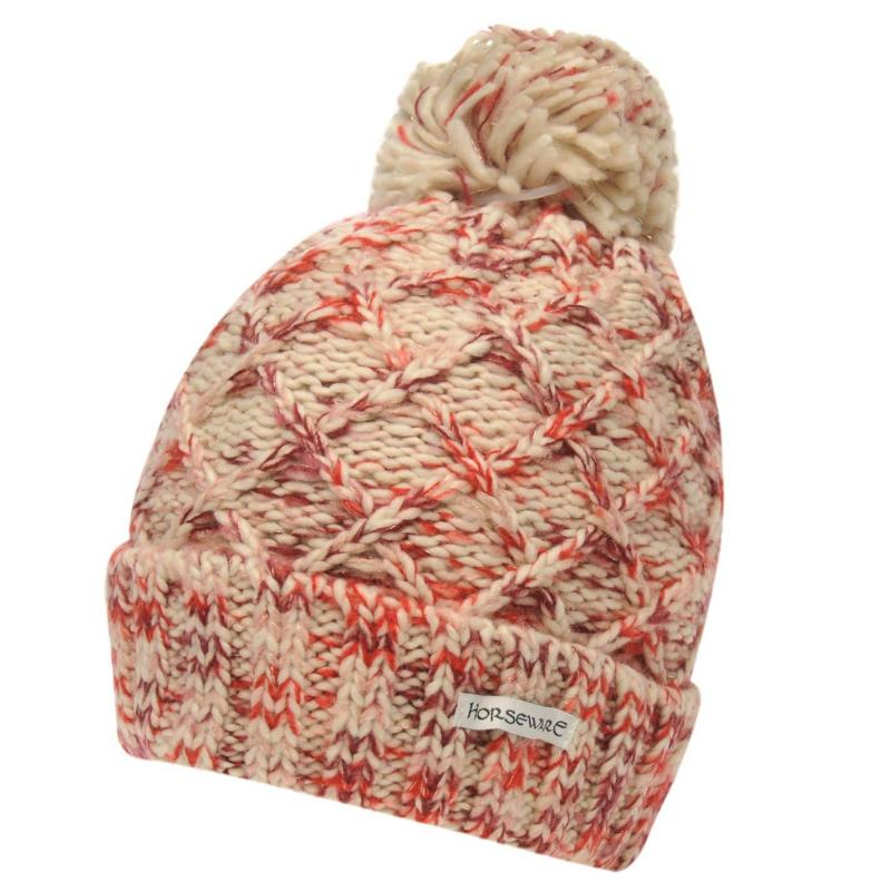Horseware Knitted Hat Soft Pink