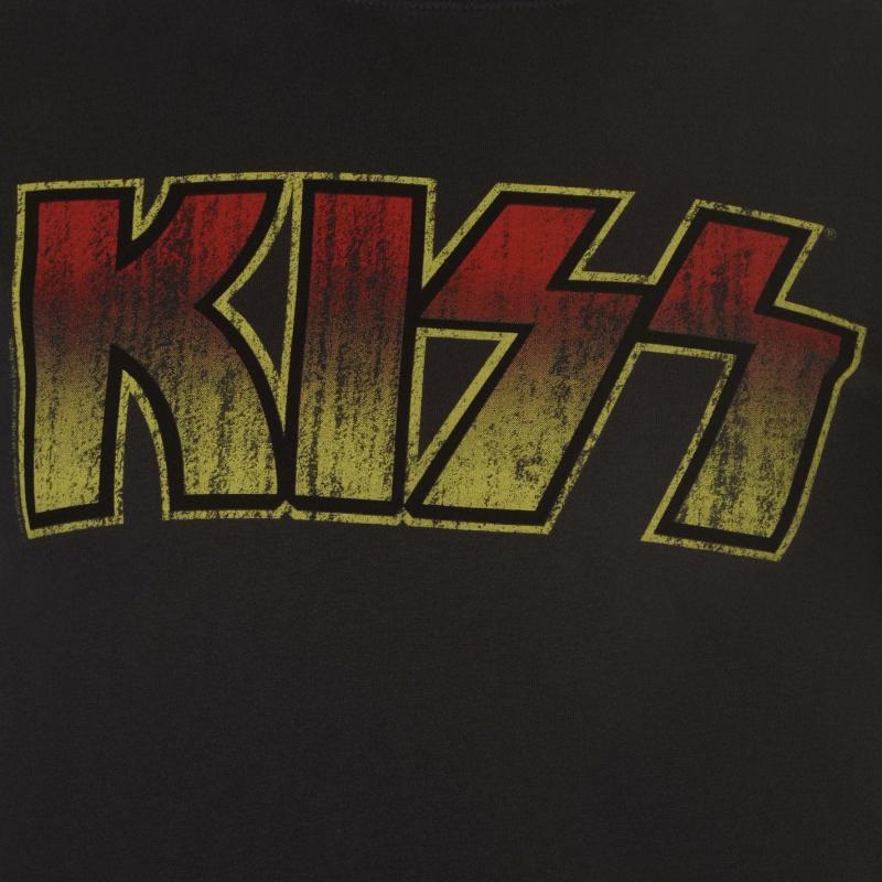 Tričko Amplified Clothing Kiss Mens T Shirt Logo