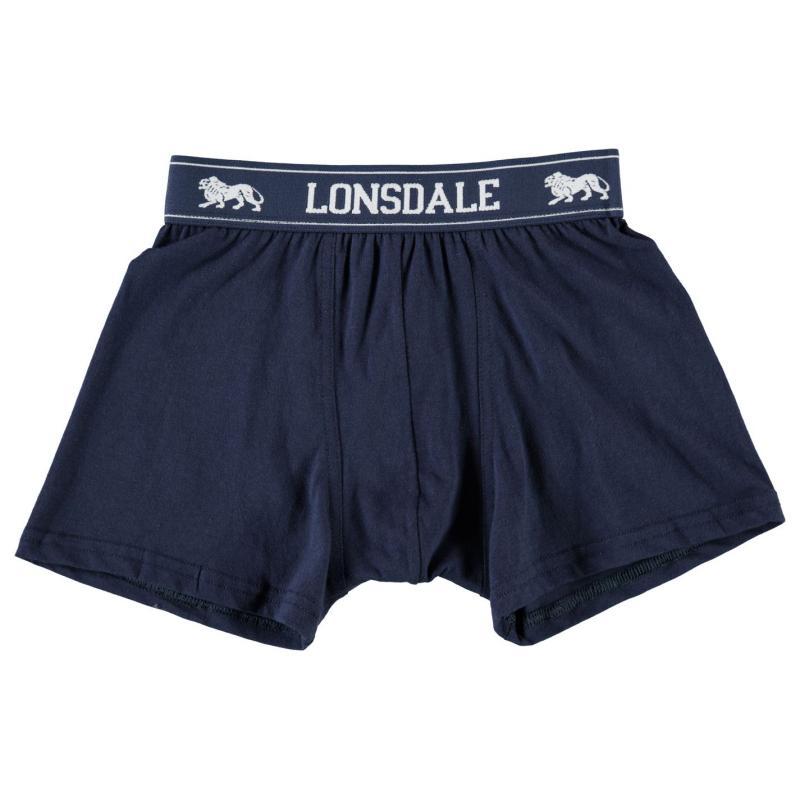 Spodní prádlo Lonsdale 2 Pack Trunk Junior Boys Navy