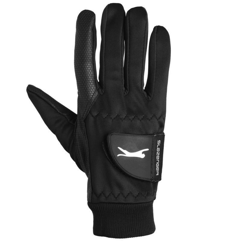 Slazenger Winter Golf Gloves Mens Black