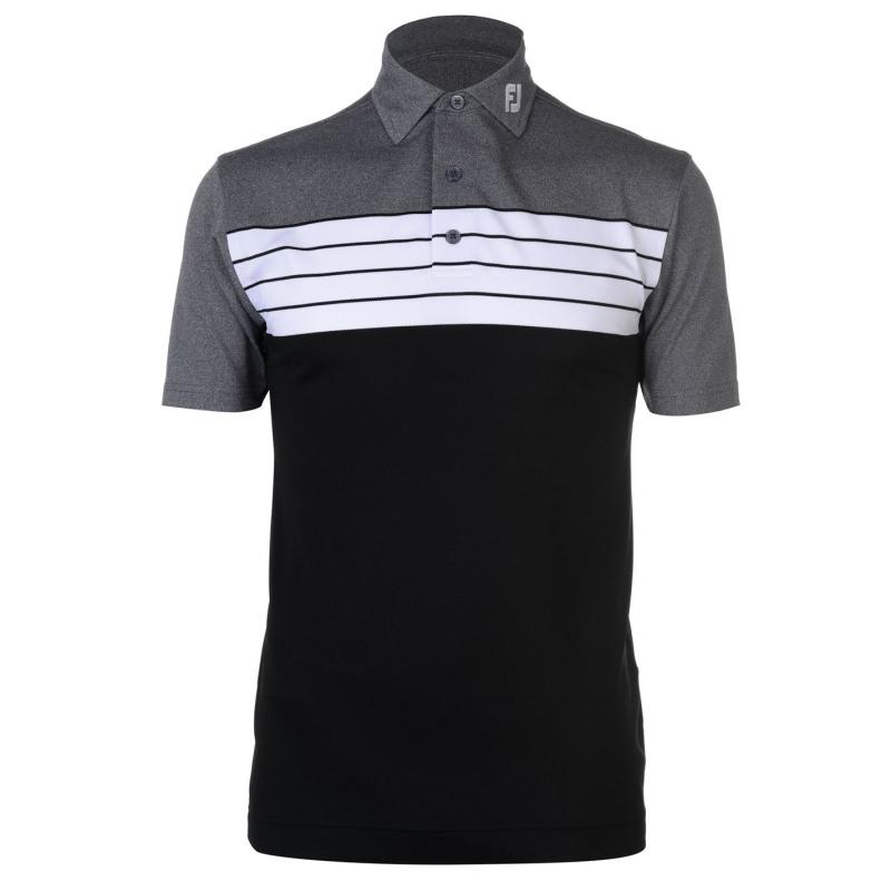 Footjoy Block Polo Shirt Black/Heather