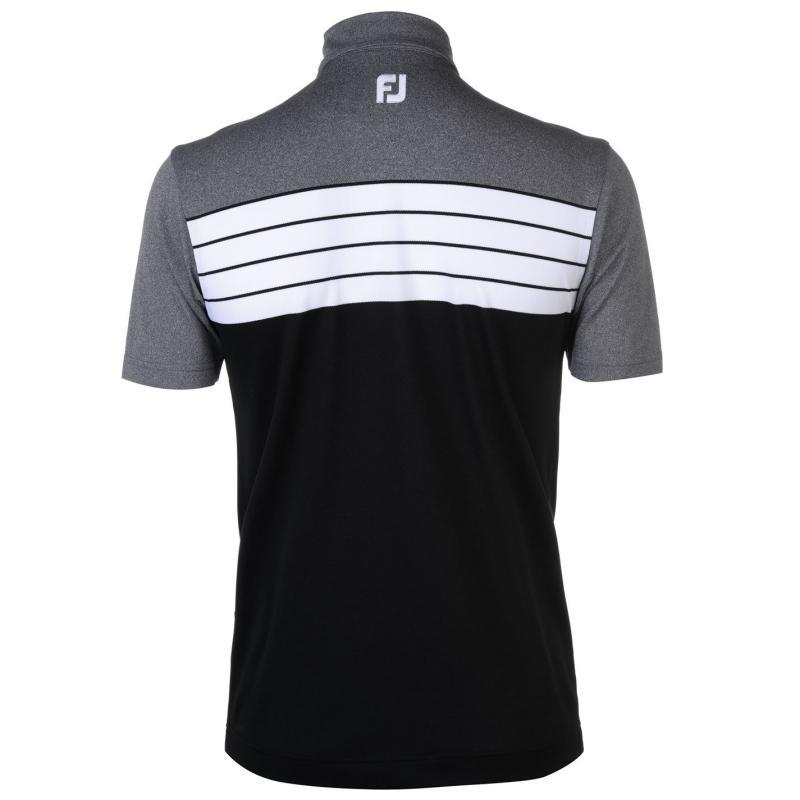 Footjoy Block Polo Shirt Black/Heather