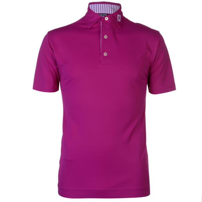 Footjoy Solid Polo Shirt Mulberry
